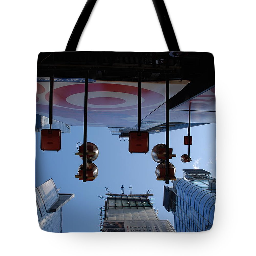 Architecture Tote Bag featuring the photograph Target Lights by Rob Hans