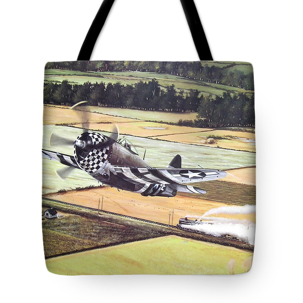 Military Tote Bag featuring the painting Target Of Opportunity by Marc Stewart