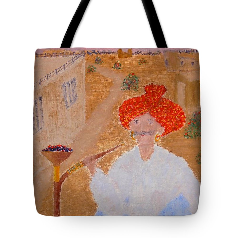 People Tote Bag featuring the painting Tau by R B