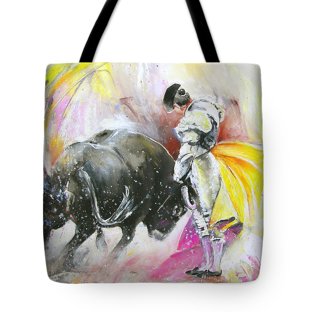 Animals Tote Bag featuring the painting Taurean Power by Miki De Goodaboom