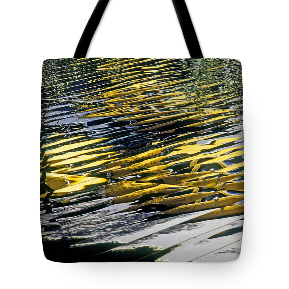 Abstract Tote Bag featuring the photograph Taxi Abstract by Tony Cordoza