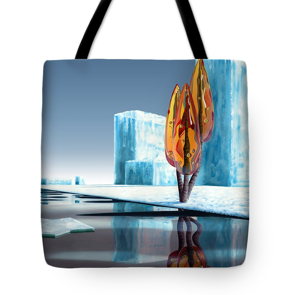 Architecture Tote Bag featuring the painting Taxus Glacialis by Patricia Van Lubeck