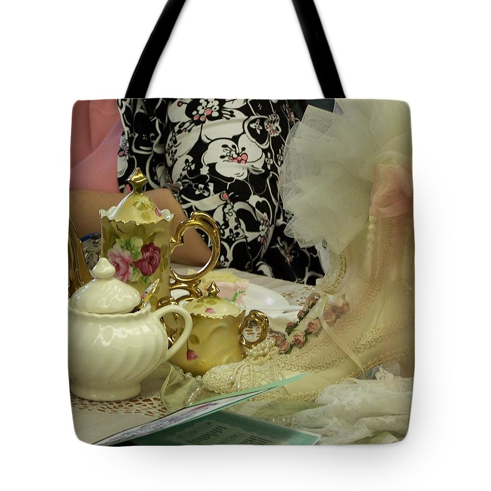 Digital Photography Tote Bag featuring the photograph Tea For Two by Laurie Kidd
