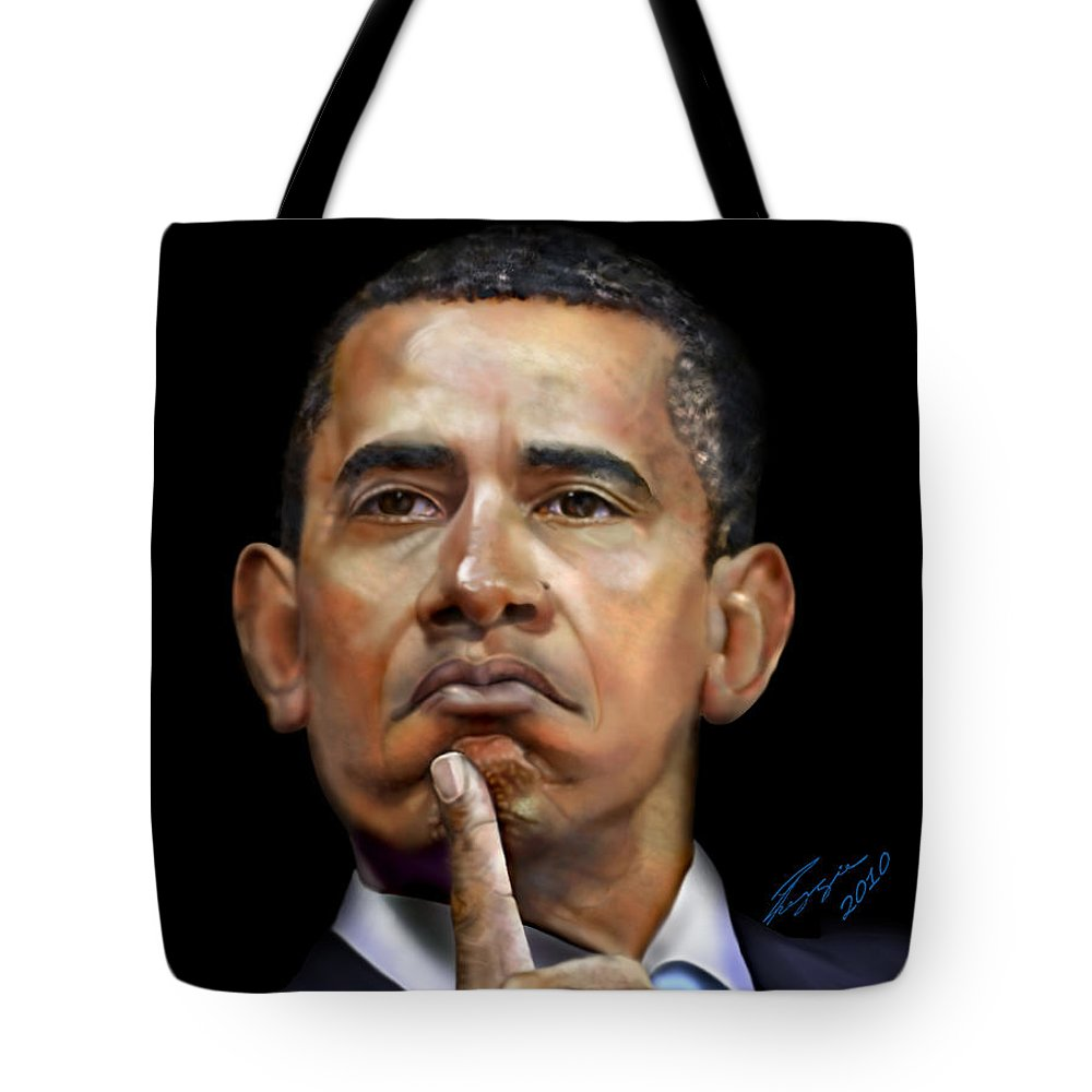 President Tote Bag featuring the painting Tea Party-let Em Eat Cake-1 by Reggie Duffie