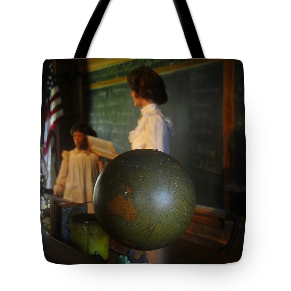 1800s Tote Bag featuring the photograph Teaching Globe by David Lee Thompson
