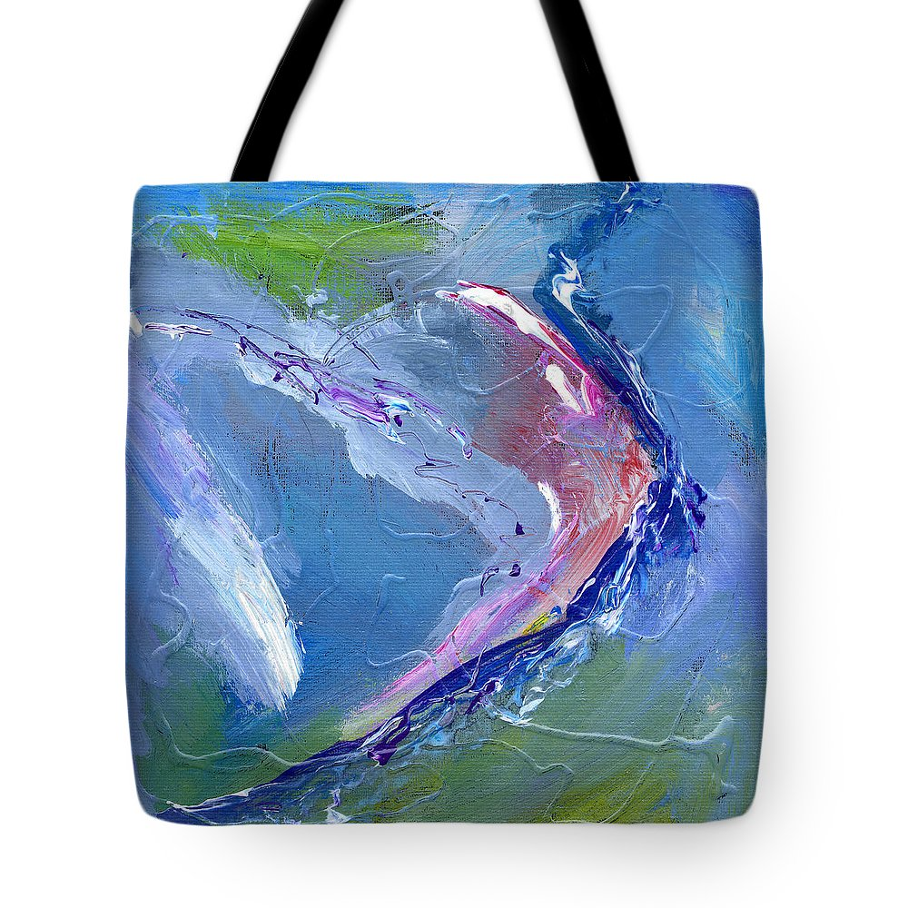 Abstract Tote Bag featuring the painting Teahupoo by Dominic Piperata