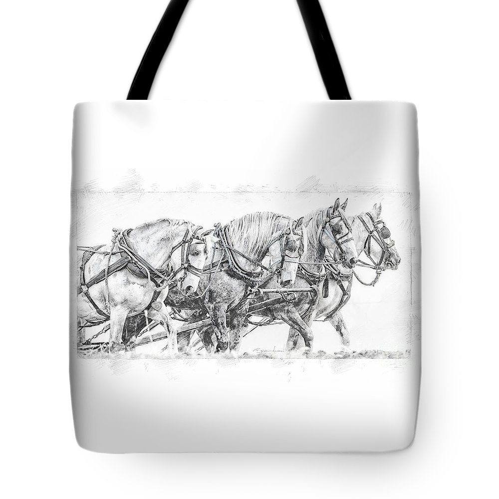 Alberta Tote Bag featuring the digital art Team Work by Brad Allen Fine Art