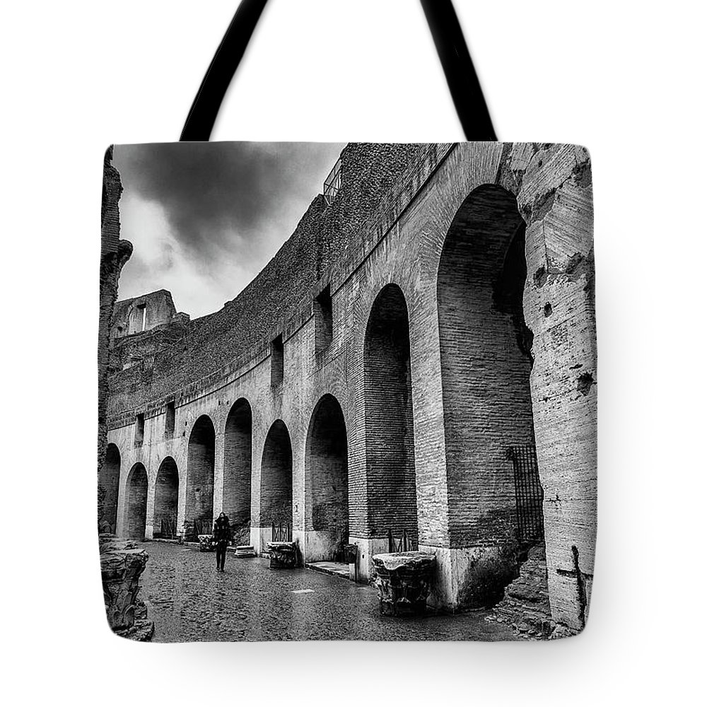 Coliseum Tote Bag featuring the photograph Tears Of Rain At Coliseum by Ag Barros