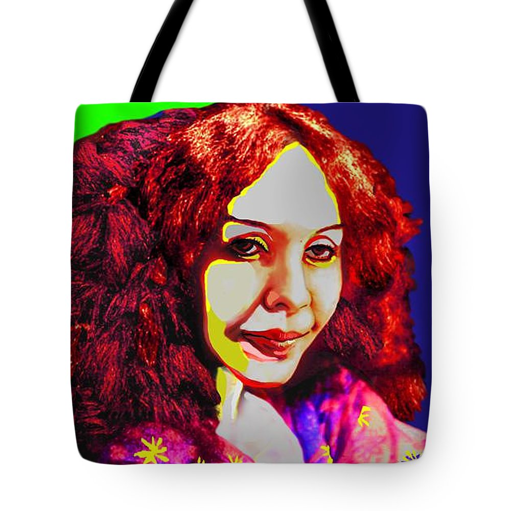 Pop Art Tote Bag featuring the painting Technicolour Dreamer By Jorge Gomez by Rusty Gladdish