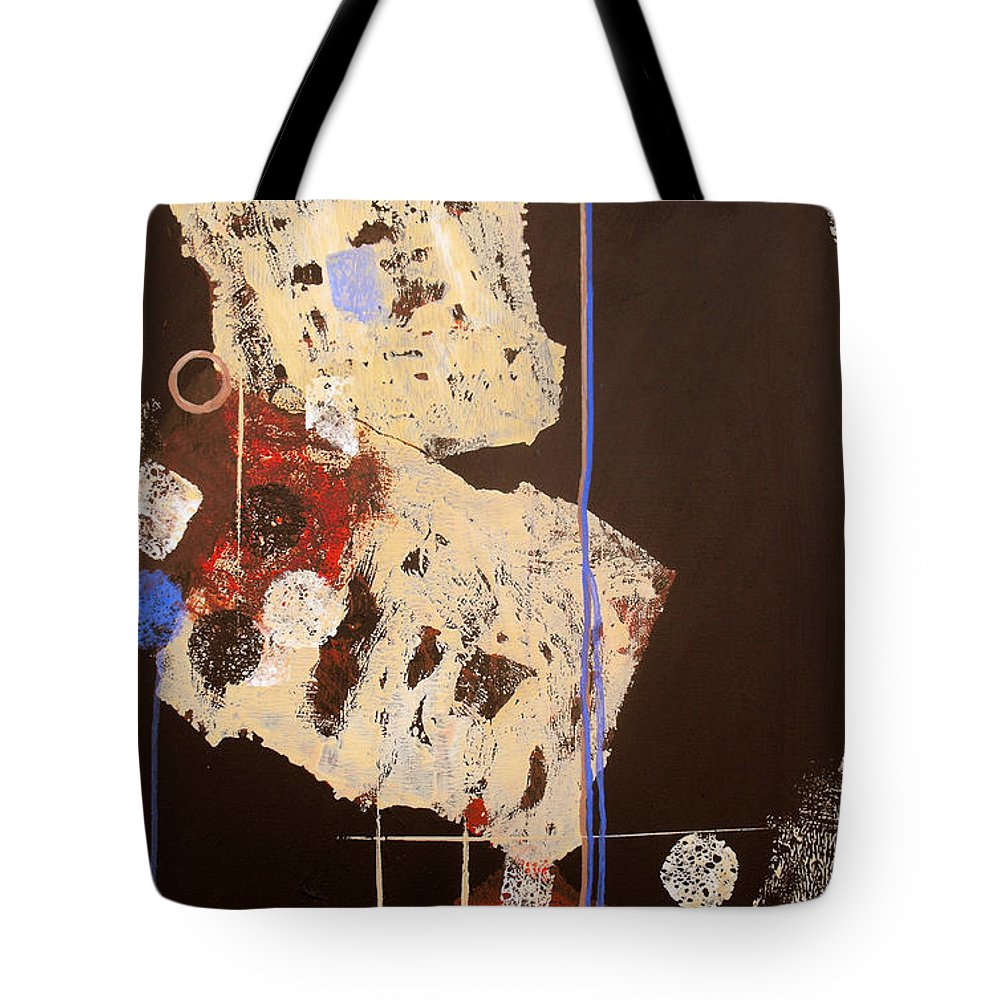 Abstract Tote Bag featuring the painting Teeter by Ruth Palmer