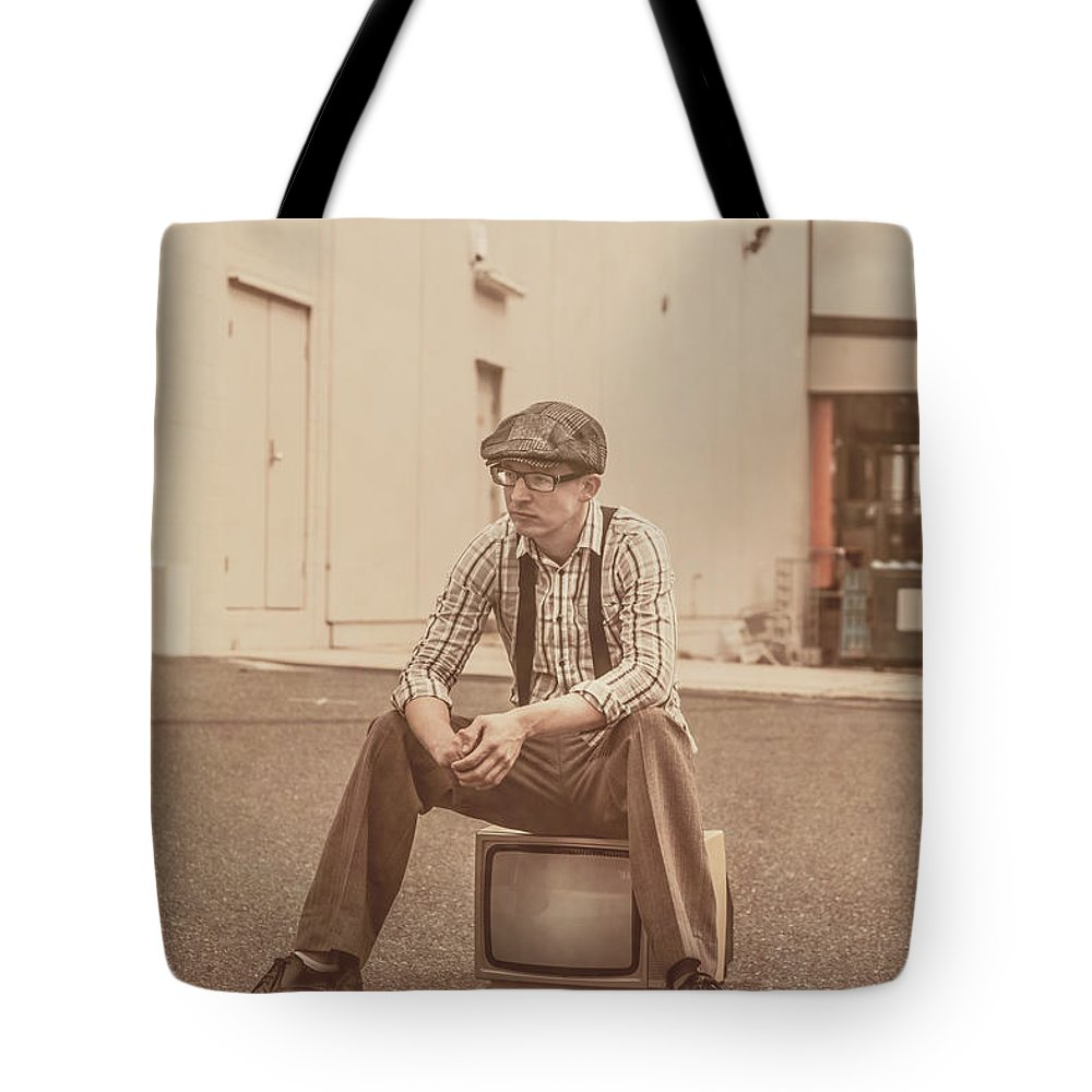 Bored Tote Bag featuring the photograph Television Is Broken by Jorgo Photography - Wall Art Gallery