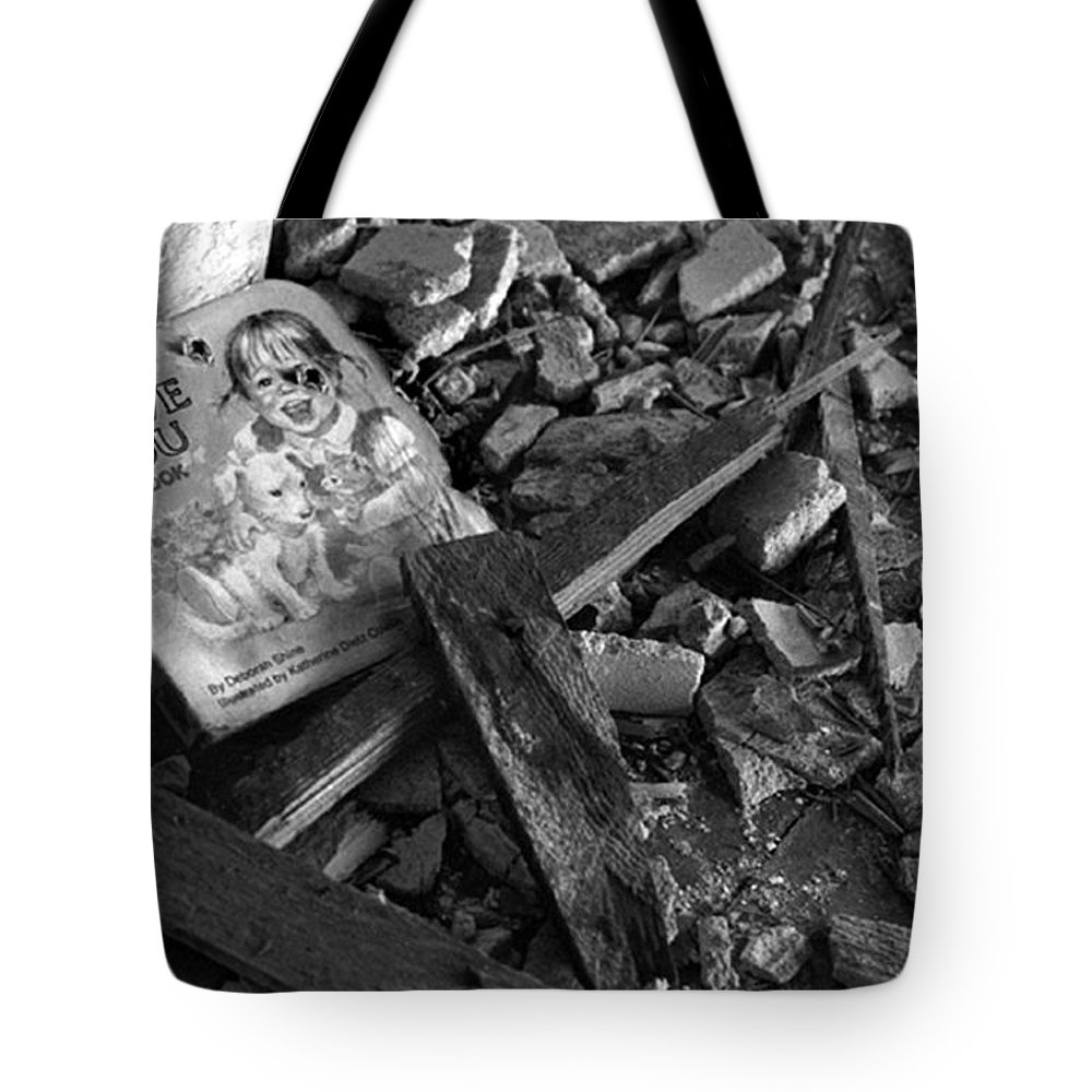 Dark Art Tote Bag featuring the photograph Tell Me A Story by Peter Piatt