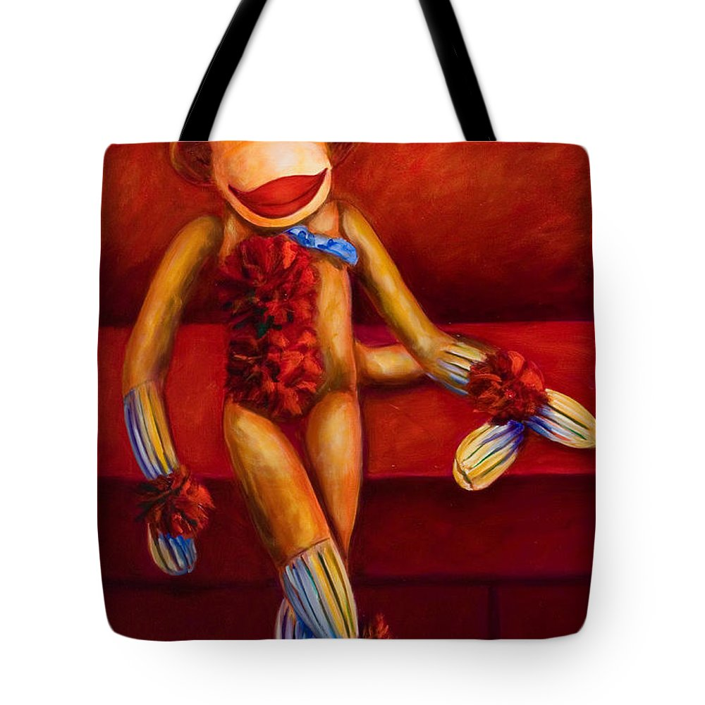 Children Tote Bag featuring the painting Tell Me All About It by Shannon Grissom