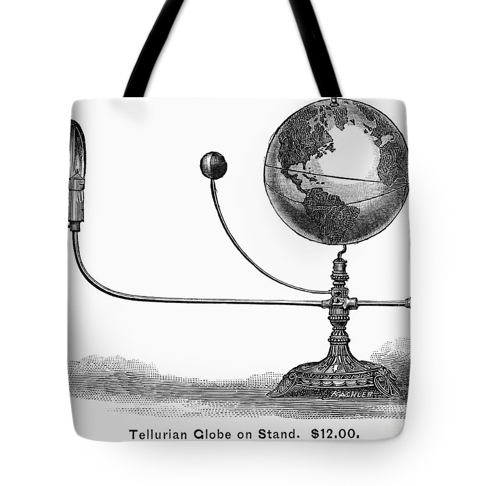 19th Century Tote Bag featuring the photograph Tellurian Globe by Granger