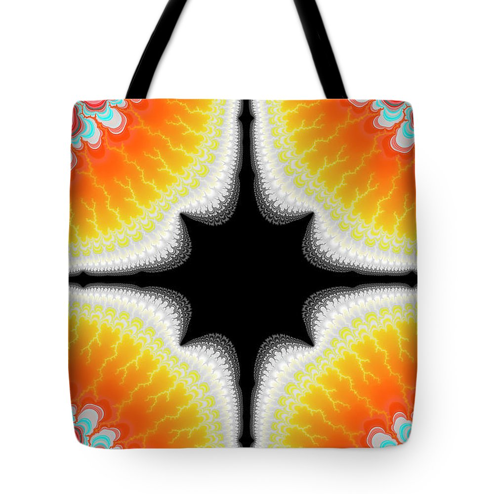 Fractal Tote Bag featuring the digital art Fractal 7 2x3 by Daniel George