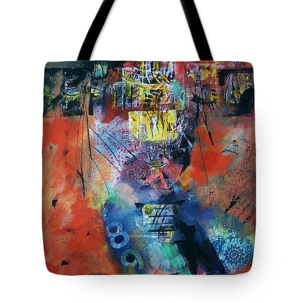 Abstract Expressionism Tote Bag featuring the painting Temperature's Rising by Donna Frost