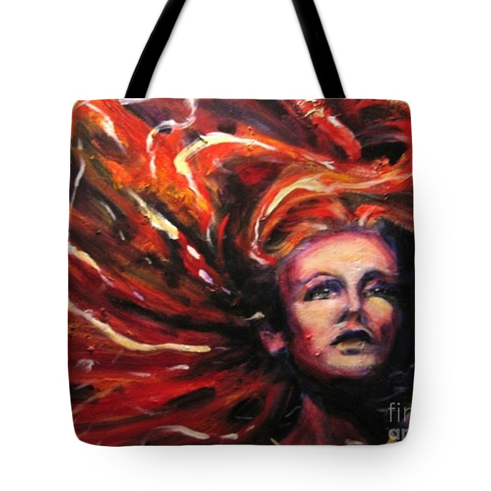 Bright Tote Bag featuring the painting Tempest by Jason Reinhardt