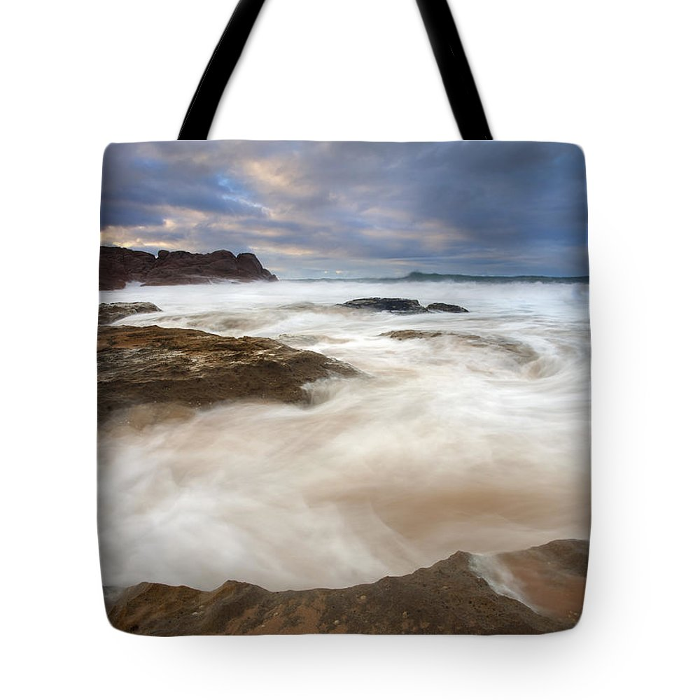 Bowl Tote Bag featuring the photograph Tempestuous Sea by Mike Dawson