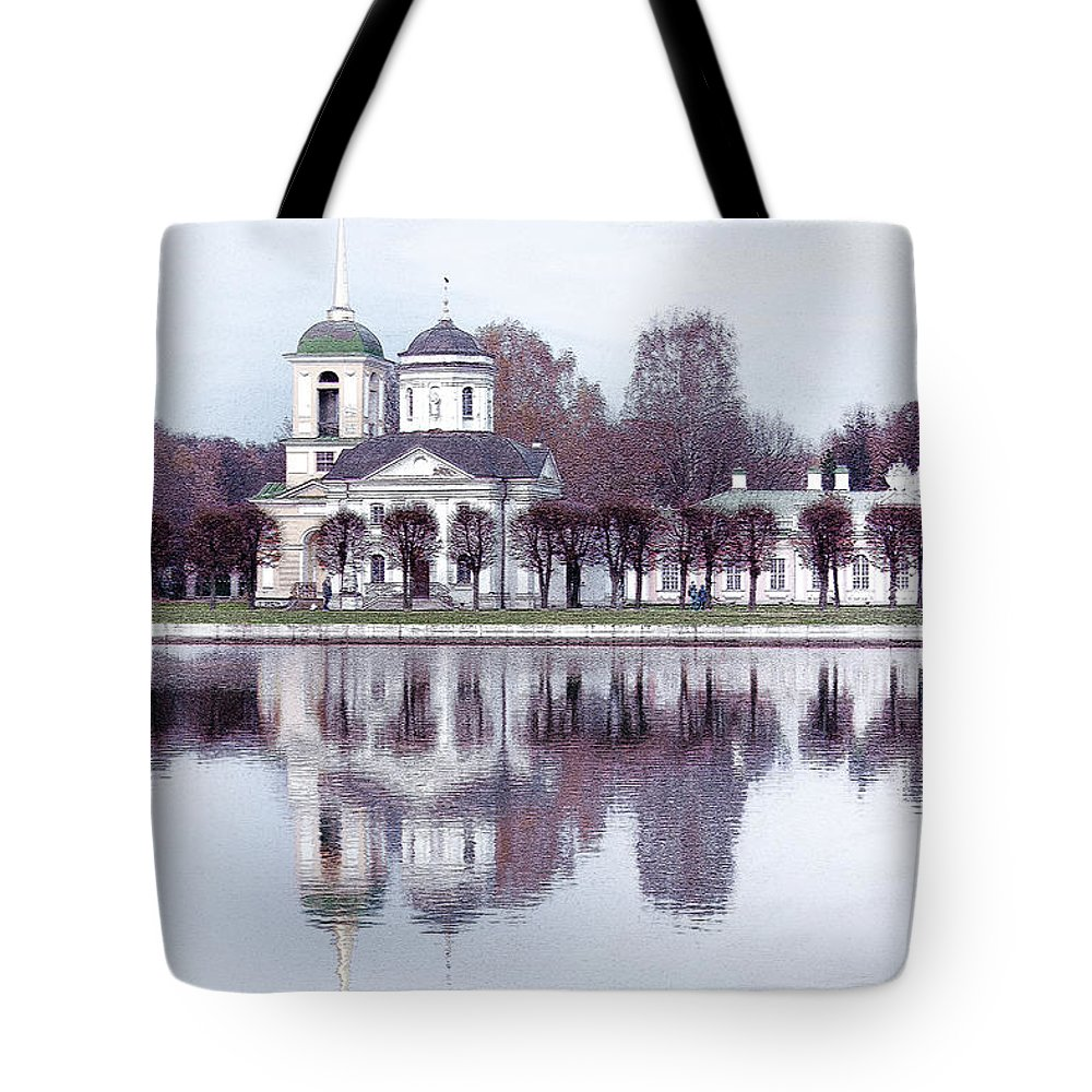 Margarita Buslaeva Tote Bag featuring the photograph Temple And Bell Tower II by Margarita Buslaeva