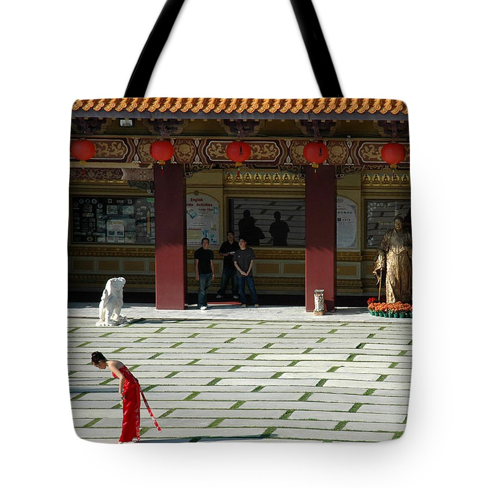 Temple Tote Bag featuring the photograph Temple Bow by Michael Ziegler