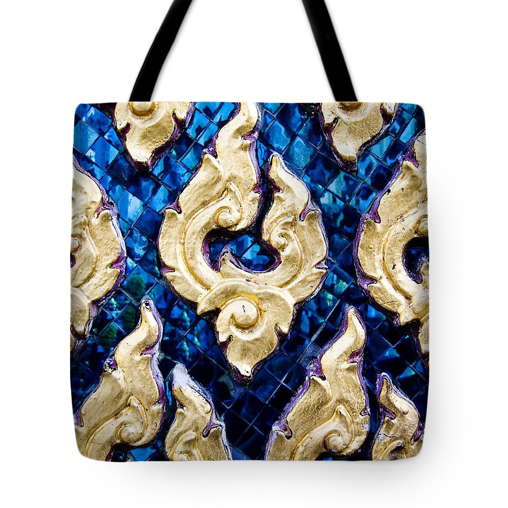 Art Tote Bag featuring the photograph Temple Detail by Ray Laskowitz - Printscapes
