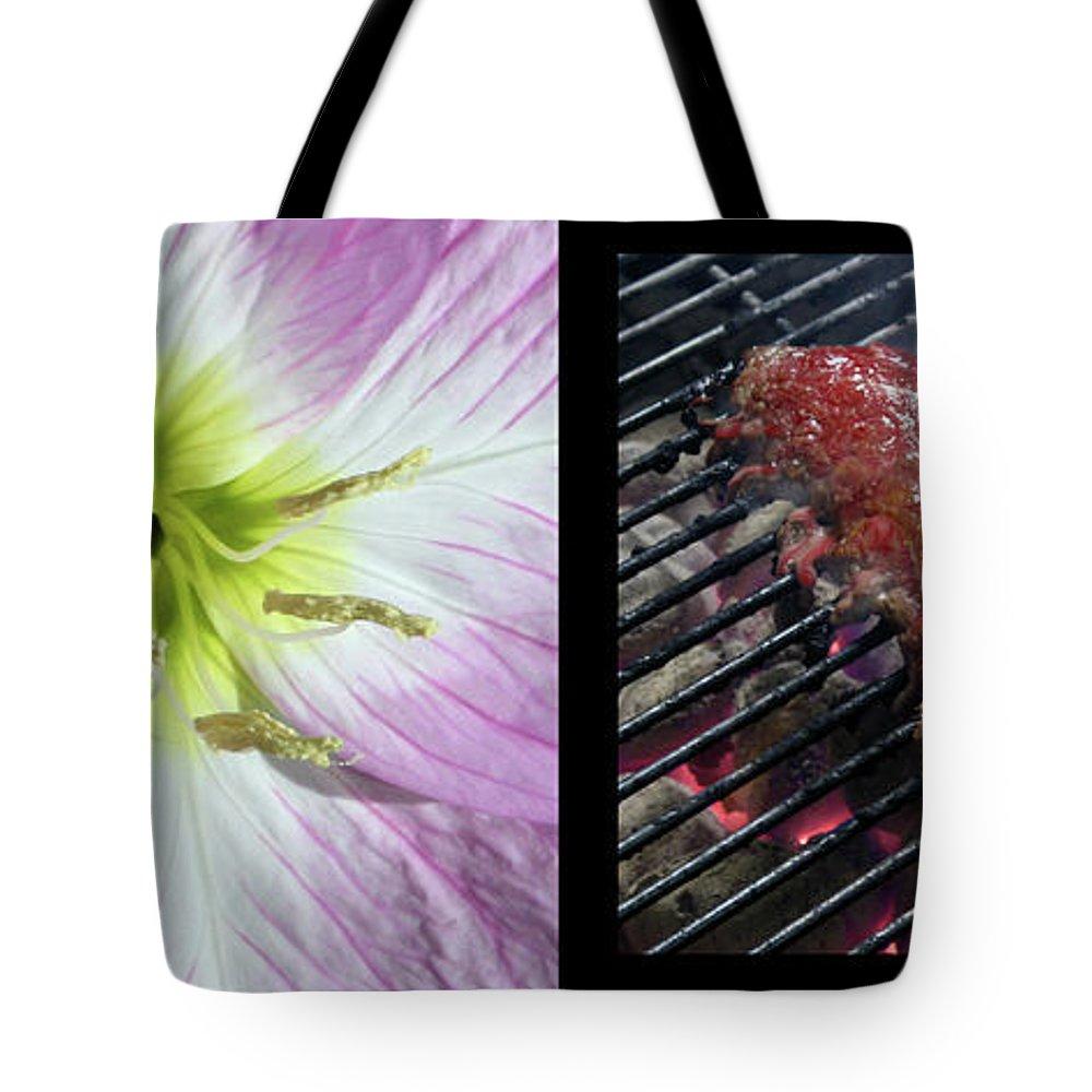Temptation Tote Bag featuring the photograph Temptation 1 by James W Johnson