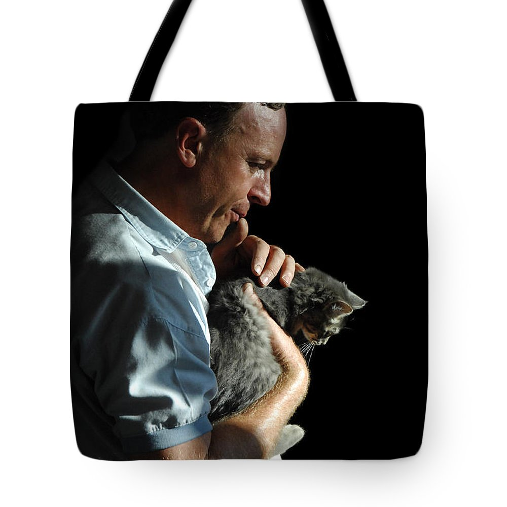 Man Tote Bag featuring the photograph Tender Moment by Donna Blackhall