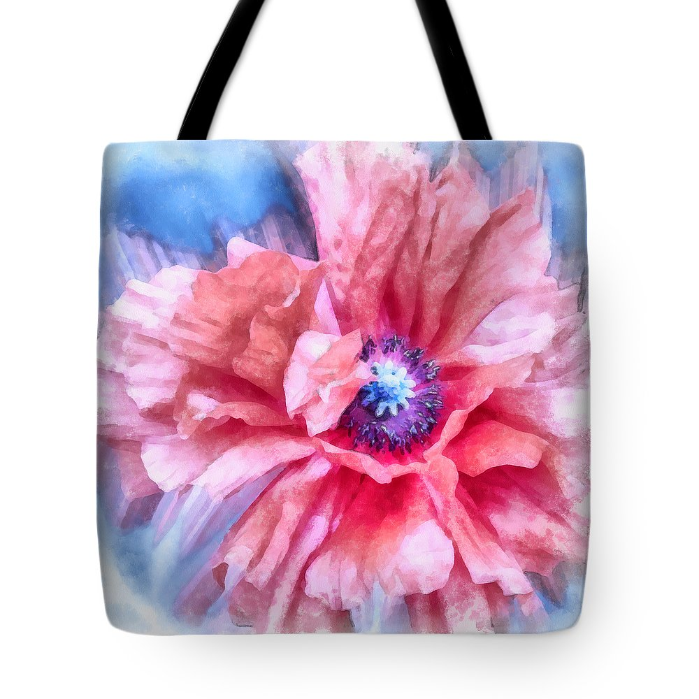 Poppy Tote Bag featuring the photograph Tenderness by Angelina Vick