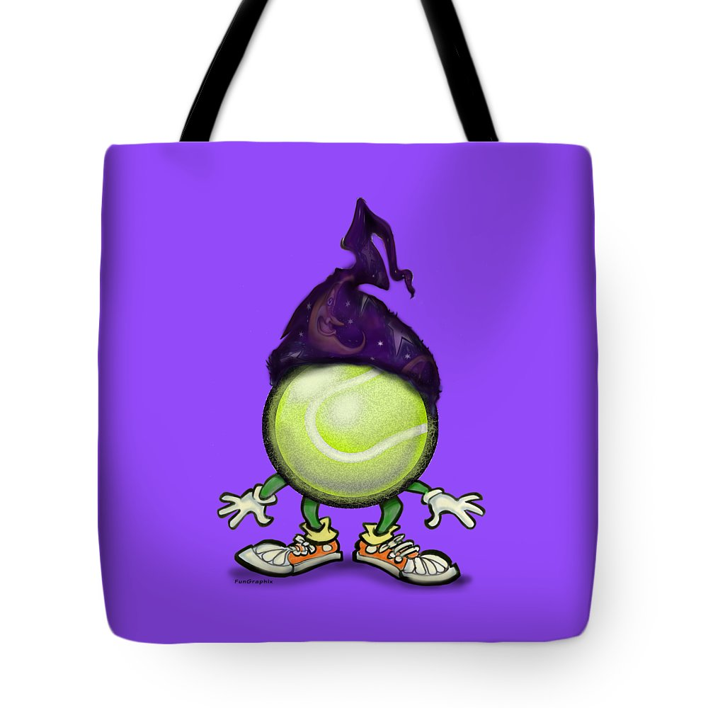 Tennis Tote Bag featuring the digital art Tennis Wiz by Kevin Middleton