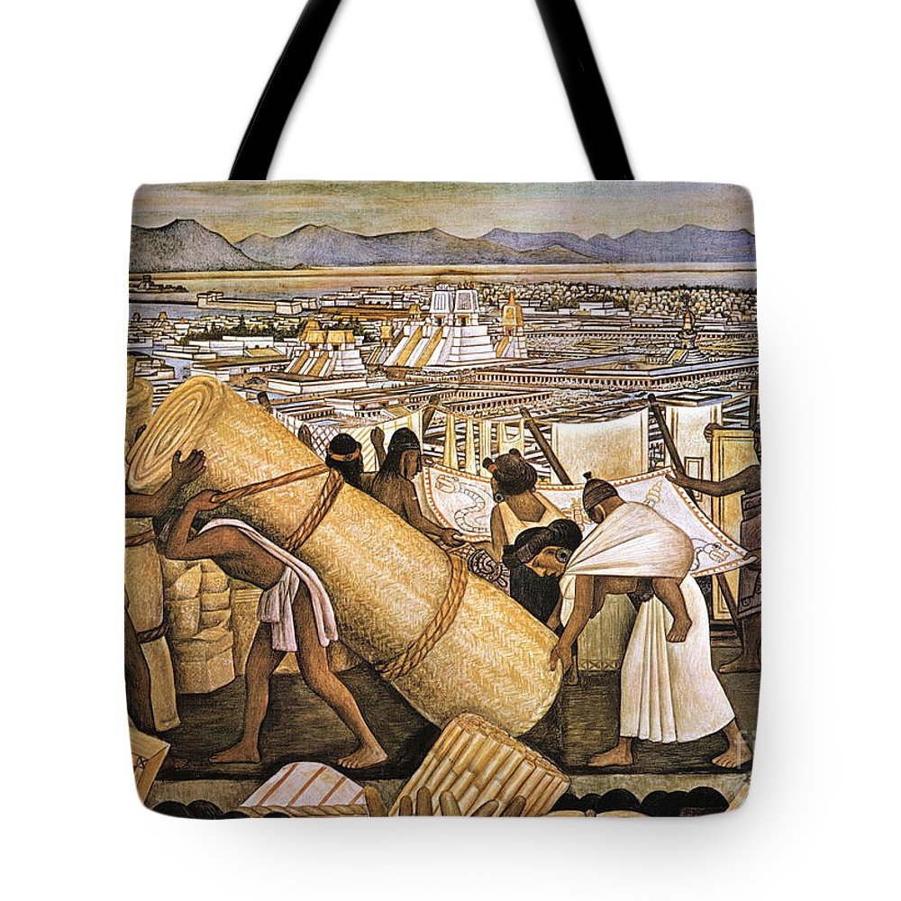 American Indian Tote Bag featuring the photograph Tenochtitlan (mexico City) by Granger