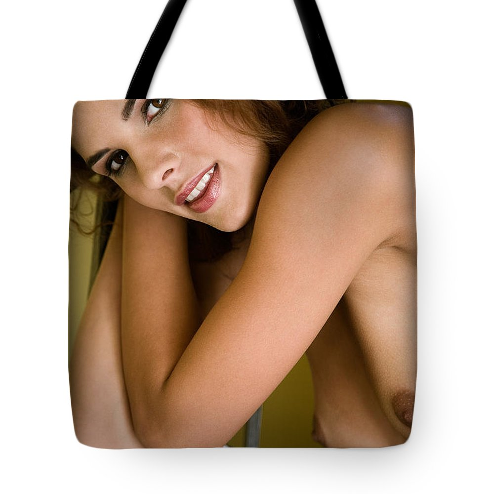 Sensual Tote Bag featuring the photograph Tereza by Olivier De Rycke