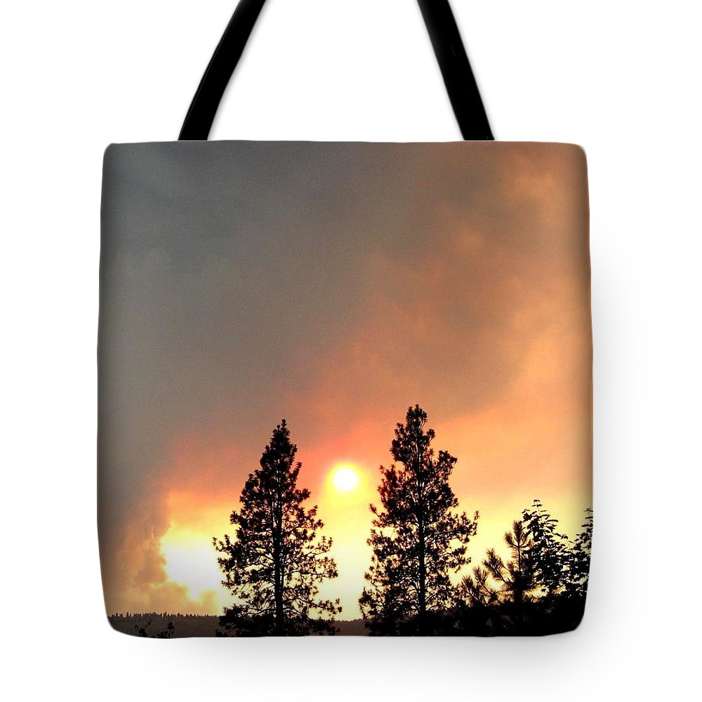 Forest Fire Tote Bag featuring the photograph Terrace Mountain Fire 2 by Will Borden