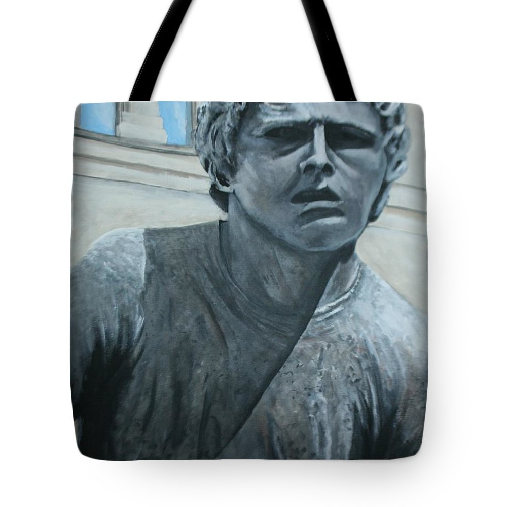 Terry Fox Tote Bag featuring the painting Terry Fox Statue by Betty-Anne McDonald