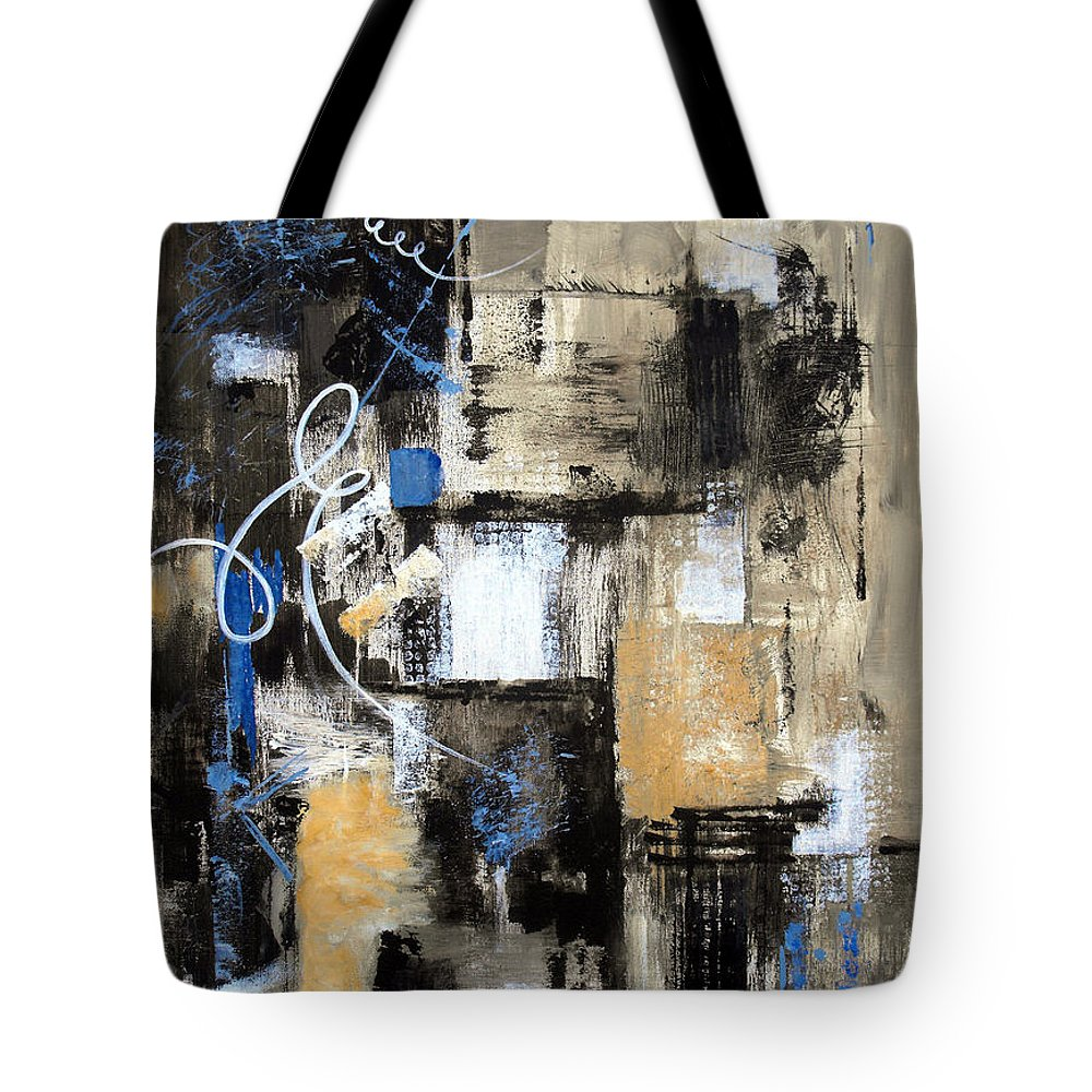 Abstract Tote Bag featuring the painting Testing The Waters by Ruth Palmer