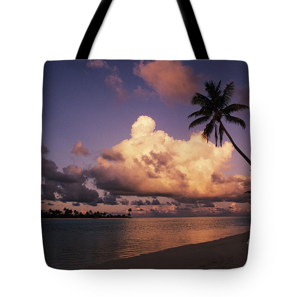 Beach Tote Bag featuring the photograph Tetiaroa by Larry Dale Gordon - Printscapes