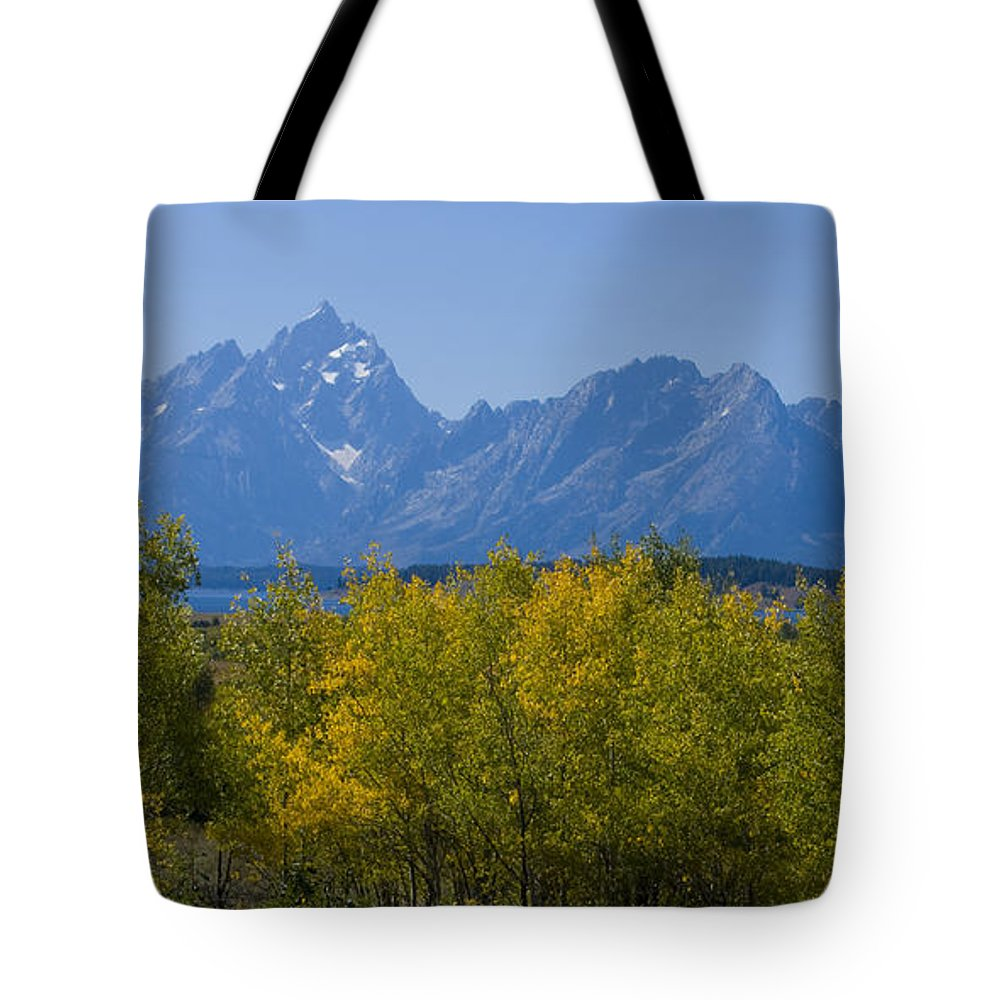 Teton Tote Bag featuring the photograph Teton Range by Idaho Scenic Images Linda Lantzy