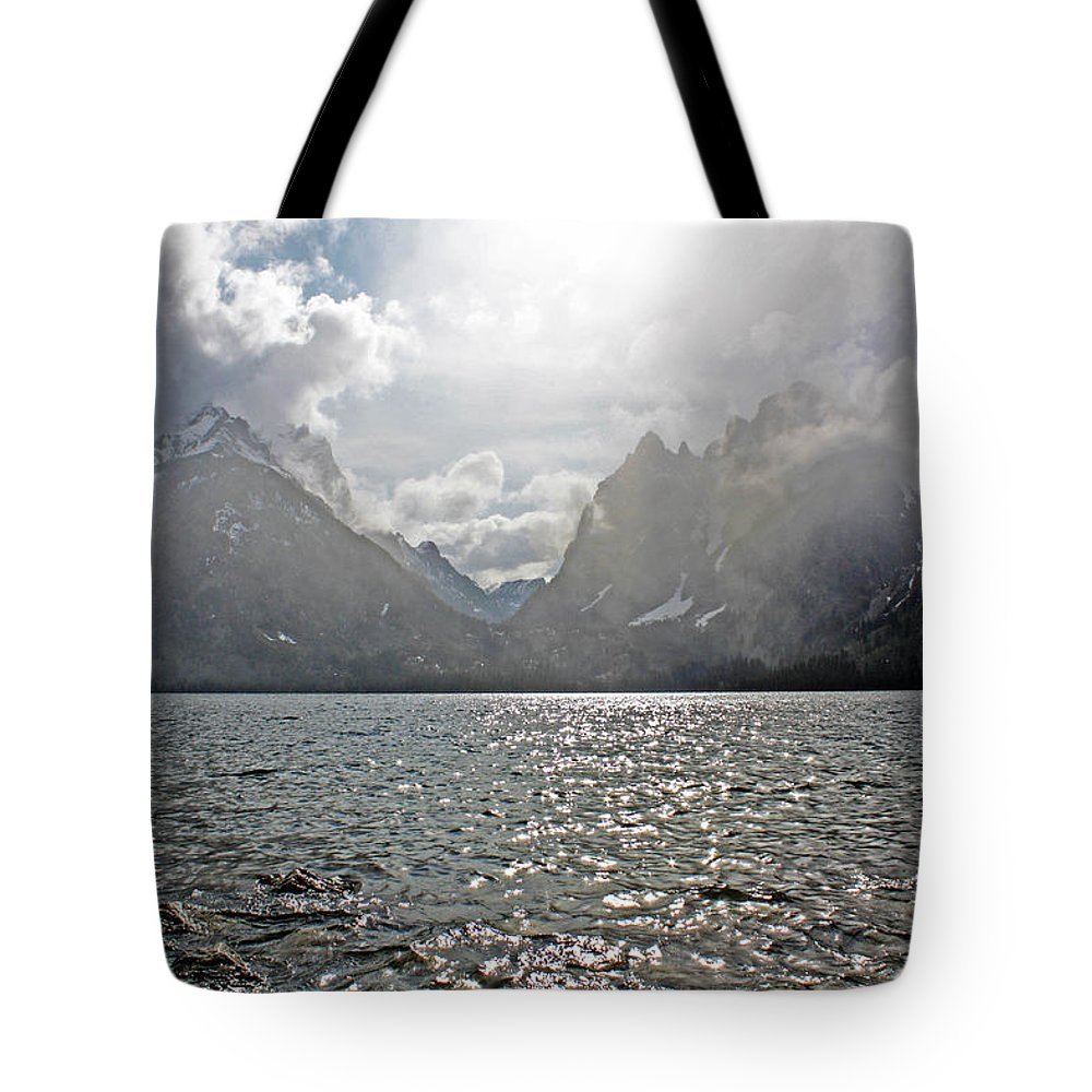 Jackson Hole Tote Bag featuring the photograph Tetons At Jenny Lake by Zach Arnone