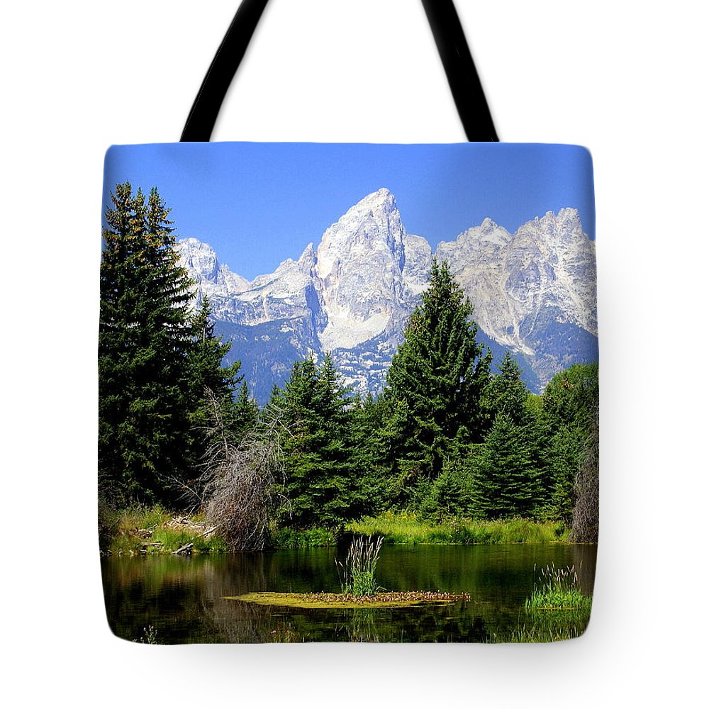 Grand Teton National Park Tote Bag featuring the photograph Tetons by Marty Koch