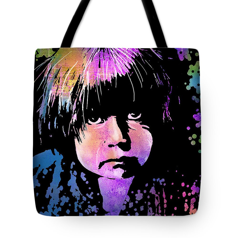 Native Americans Tote Bag featuring the painting Tewa Child by Paul Sachtleben