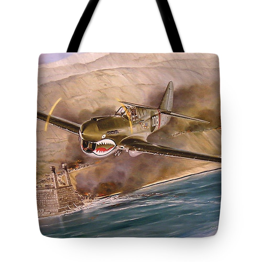 Painting Tote Bag featuring the painting Tex Hill Over The Salween Gorge by Marc Stewart