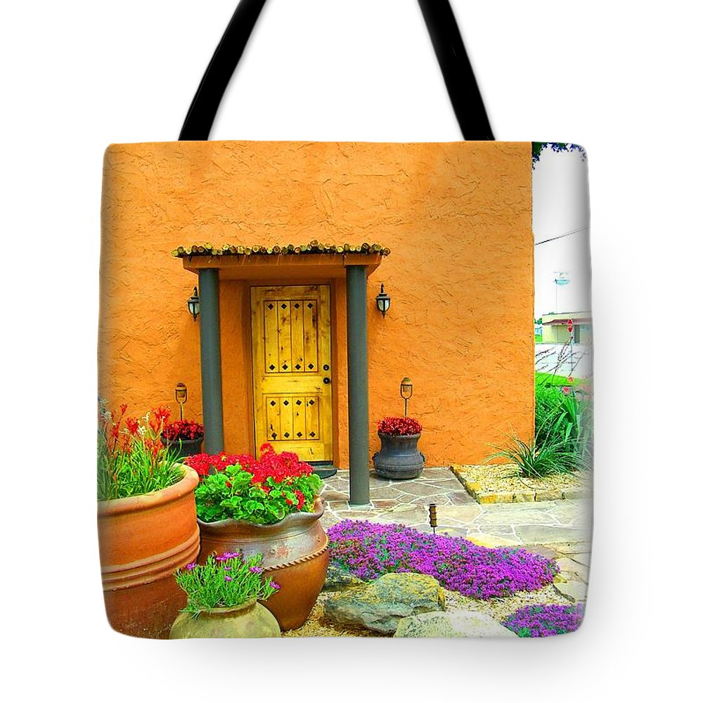 Adobe Tote Bag featuring the photograph Texas Fiesta-style by Gale Cochran-Smith