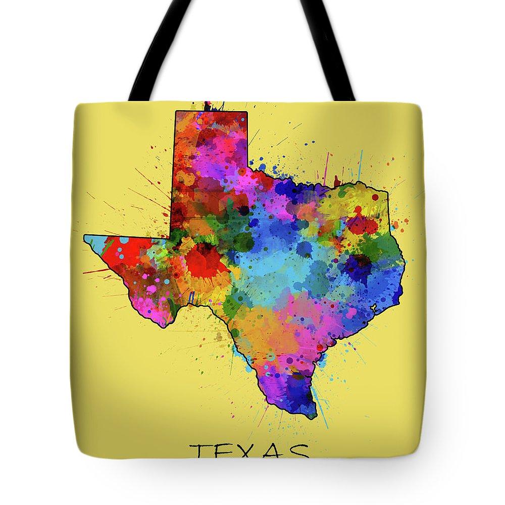 Central Texas Digital Art Tote Bags