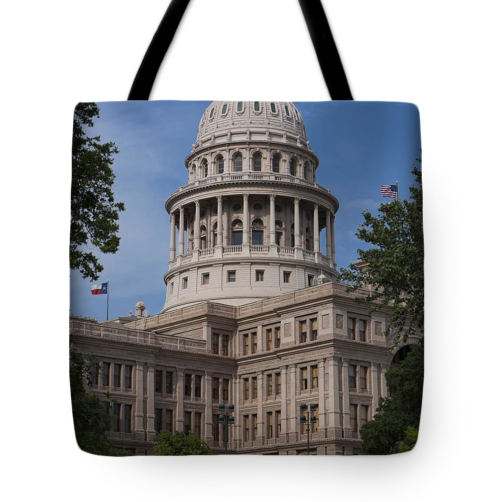 Austin Tote Bag featuring the photograph Texas State Capitol - Austin Tx by Anthony Totah
