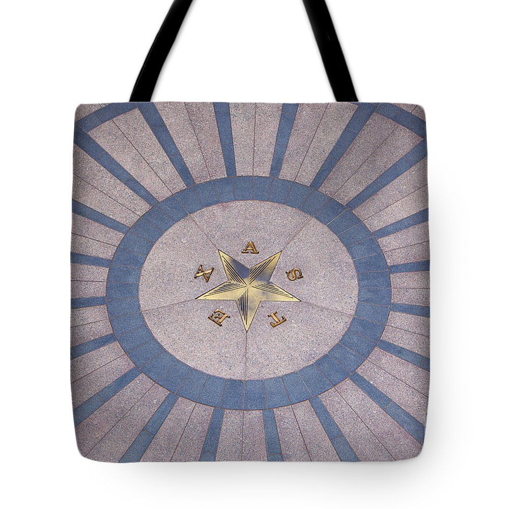 Architecture Tote Bag featuring the photograph Texas State Capitol - Courtyard Floor by Anthony Totah