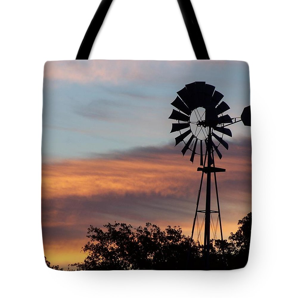 Windmill Tote Bag featuring the photograph Texas Sunrise by Gale Cochran-Smith
