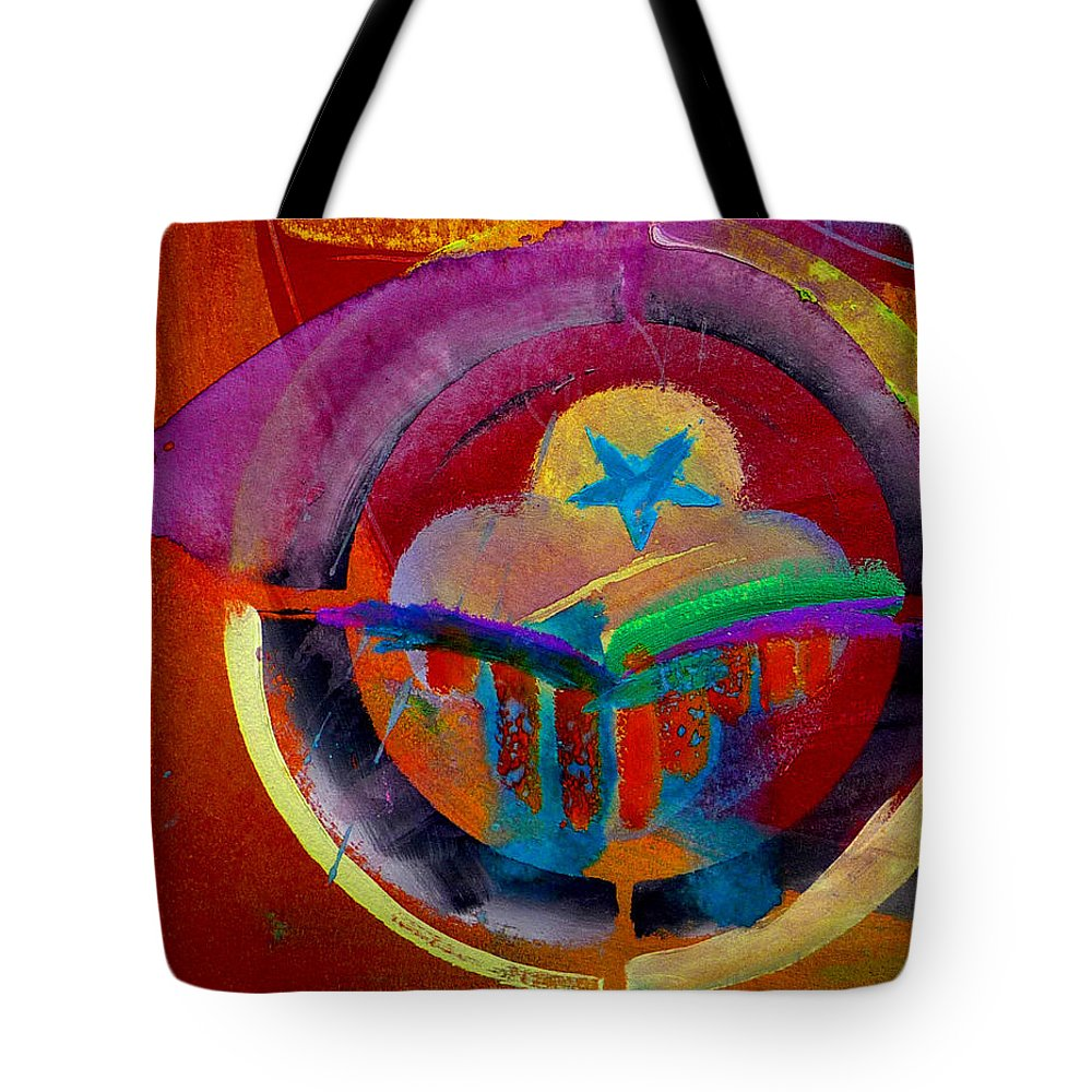 Button Tote Bag featuring the painting Texicana by Charles Stuart