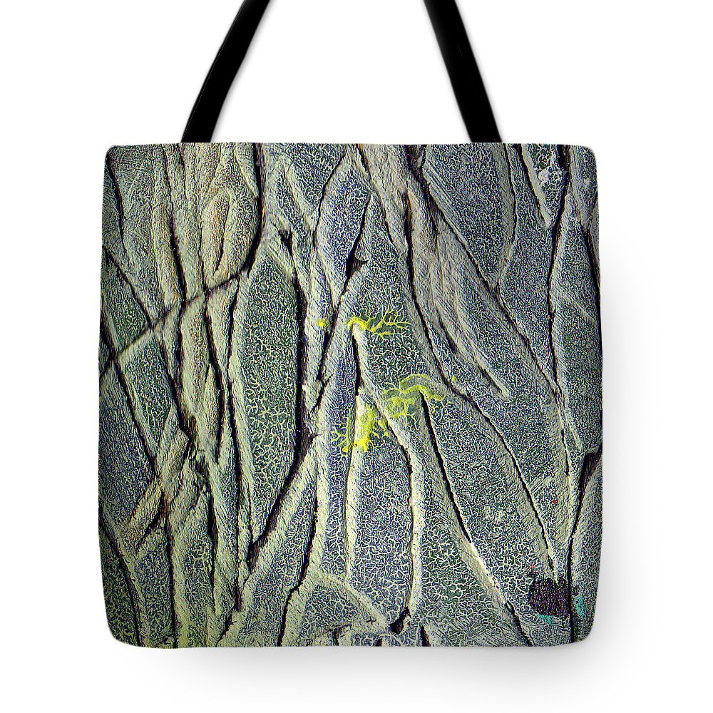 Abstract Tote Bag featuring the painting Texture Study One  Entanglement by Wayne Potrafka