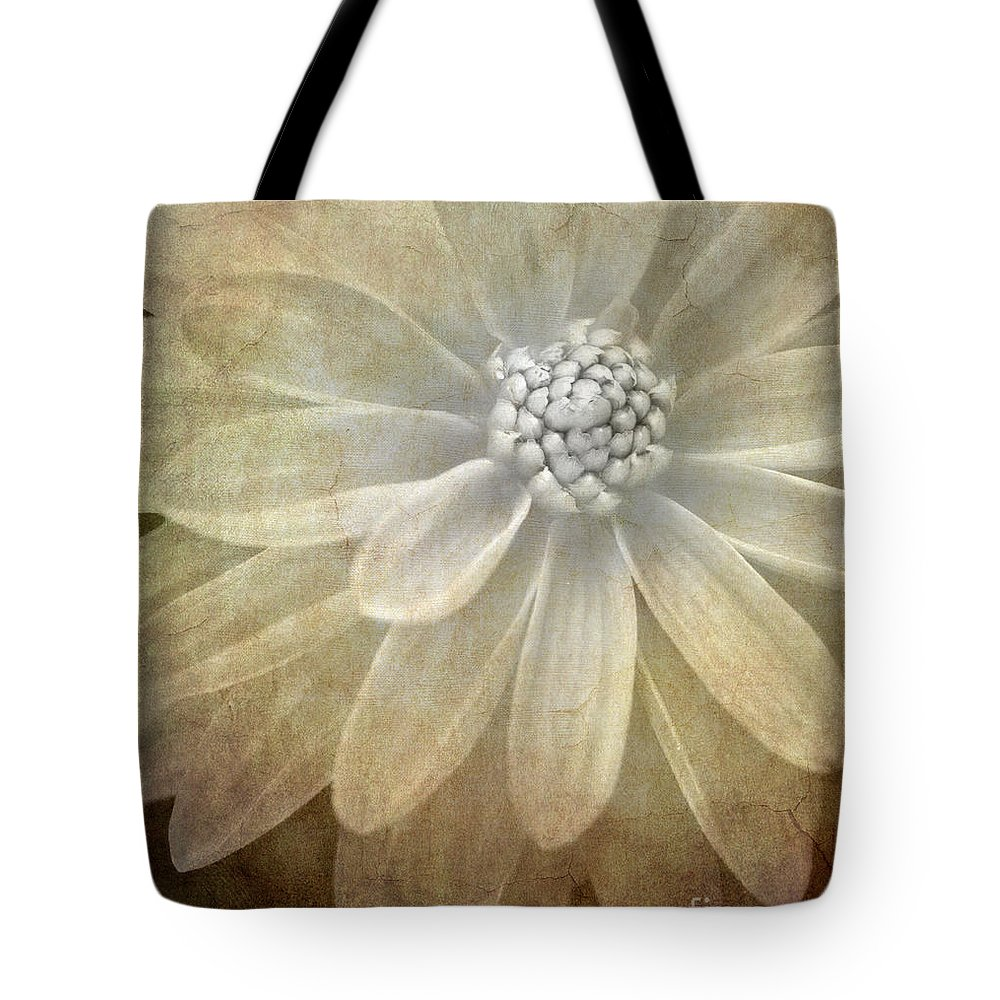 Tote Bag featuring the photograph Textured Dahlia by Meirion Matthias