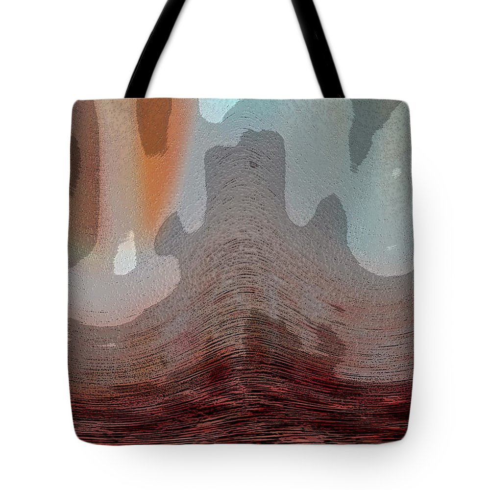 Abstracts Tote Bag featuring the digital art Textured Waves by Linda Sannuti