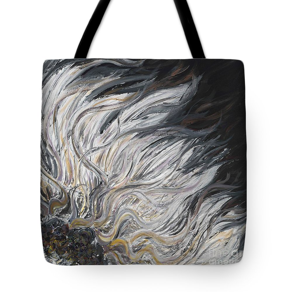 White Tote Bag featuring the painting Textured White Sunflower by Nadine Rippelmeyer
